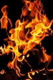 Огонь пламени на черной предпосылке Стоковое фото RF