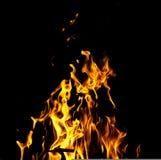 Огонь пламени на черной предпосылке Стоковое Изображение RF