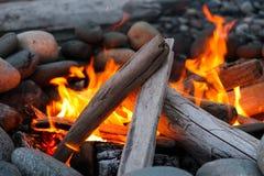Огонь пляжа Стоковое Изображение