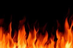 Огонь рамки на задней иллюстрации Стоковая Фотография RF