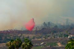 Огонь Сан-Диего Калифорния утеса стоковое фото