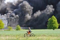 Огонь склада Стоковое Изображение RF