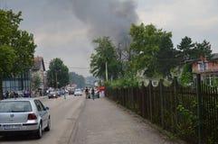 Огонь сломал вне на моле Стоковые Изображения RF