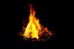 Огонь с треугольником Стоковые Фотографии RF