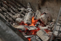 Огонь угля Стоковое Изображение