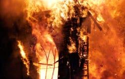 Огонь церков Стоковая Фотография
