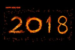 Огонь 2018 стоковое изображение