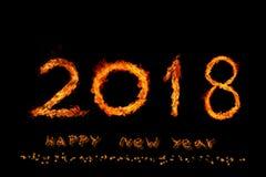 Огонь 2018 2018 стоковое изображение