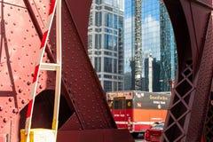 Огонь Dept Чикаго Команда акваланга - машина скорой помощи на улице LaSalle, хие стоковые изображения