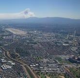 Огонь Forrest от воздуха Стоковые Изображения RF