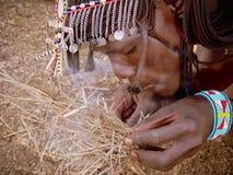 Огонь Masai стоковое фото rf