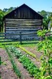 Огород с амбаром журнала стоковое фото