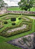 Огороженный сад на замке Edzell стоковое фото rf