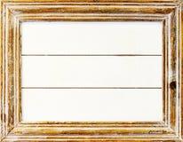 Огорченная белизна покрасила рамку фото, винтажный объект Стоковая Фотография RF