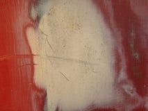 Огорченная красная и желтая предпосылка металлического листа цвета Стоковая Фотография