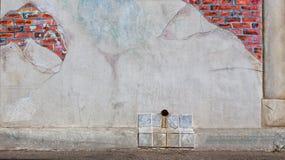Огорченная предпосылка кирпичной стены Стоковое Фото