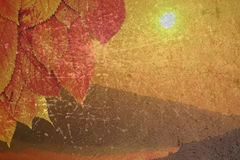 Огорченная предпосылка осени Стоковое Изображение RF
