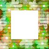огорченная флористическая рамка Стоковое фото RF