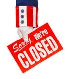 Огорченное правительство закрыто стоковая фотография rf
