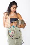 Огорченный индийский шеф-повар Стоковые Фотографии RF