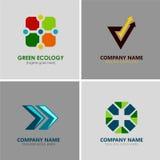 логосы иллюстрации элемента компании абстрактного искусства Стоковая Фотография