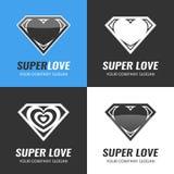 логос икона Сердце Супер влюбленность Стоковое Изображение