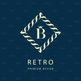 логос конструкции самомоднейший Геометрический шаблон вензеля Эмблема b письма Марк различения Всеобщий знак дела для фирменного  бесплатная иллюстрация