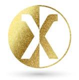 логос x письма Стоковые Фотографии RF
