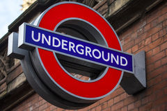 логос london подземный Стоковая Фотография