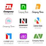 логос n письма иллюстрация вектора