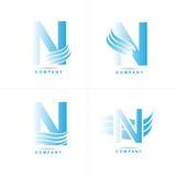 логос n письма Стоковые Изображения