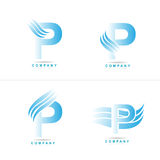 логос p письма Стоковые Изображения RF