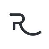 логос r письма иллюстрация вектора