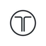 логос t письма иллюстрация вектора