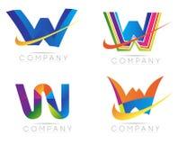 логос w письма Стоковые Фото