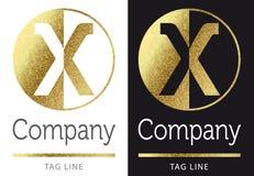 логос x письма Стоковое Фото
