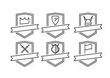 6 логотипов значков Стоковые Изображения