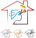 логотип картины дома бесплатная иллюстрация