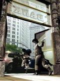 Ограбление банка Стоковое Изображение RF