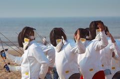 ограждать пляжа Стоковое Изображение RF