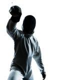ограждать силуэт человека Стоковые Фотографии RF