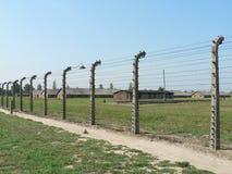 Ограждать концентрационного лагеря Освенцима Стоковая Фотография