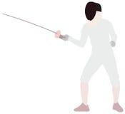 Ограждать спорт иллюстрация вектора