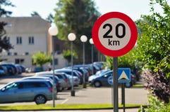 Ограничение в скорости 20 Стоковые Фотографии RF