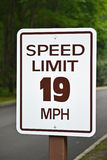 Ограничение в скорости Стоковая Фотография RF