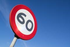 Ограничение в скорости 60 km/h стоковые изображения
