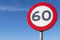 Ограничение в скорости 60 km/h стоковое фото rf