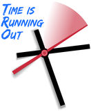 Ограниченное время бежать вне часы Стоковая Фотография RF
