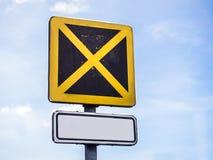 Ограниченный знак стопа Стоковая Фотография RF