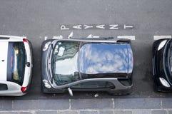 ограниченный космос стоянкы автомобилей Стоковое Фото